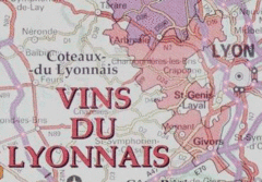 Lyonnais wine region map