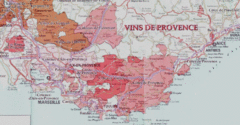 Provence wine region map