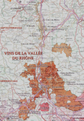 Rhone wine region map